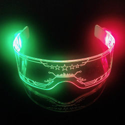 Linli 7 смены цветов RGB LED Neon загорается световой акрил Goggle очки