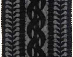SpitzenGade neue Stickerei u. Drawnwork Gewebe für Kleid-Fußleisten-Kleid 006