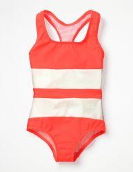 Swimwear van de Gestreepte van het Af:drukken van Racerback van meisjes Jonge geitjes van het Zwempak Ééndelige