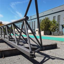 70mm de diámetro del techo de acero de 40 pies de los edificios prefabricados Gables Puente de estructura de acero de gran tamaño automático CNC dobles de acero prefabricados Span para Gasolinera