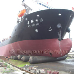 Launching Landing Refloatation를 위한 Natural Raw Rubber에 있는 뜨 Pneumatic Marine Boat Salvage Tubes Made