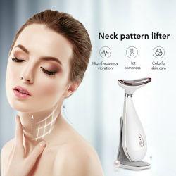 La inducción de ultrasonido hidratante profunda elevación electro estimulación Masajeador de Cuello belleza instrumento