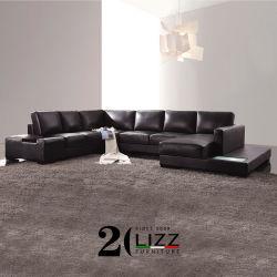 LED de la nueva era de mobiliario de oficina Conner en forma de U sofá de cuero