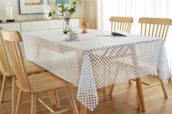 XHM Fabrik-Großverkauf transparente Belüftung-Spitze-Tischdecke HD für Picknick-Tischdecke-Textilspinnende Fertigkeiten
