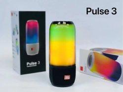 2021 Dazzle Color Mini Bass Smart Bluetooth 스피커 LED 휴대용 무선 스피커 Pulse3 스테레오 MP3 플레이어 전화 컴퓨터 실외 스피커
