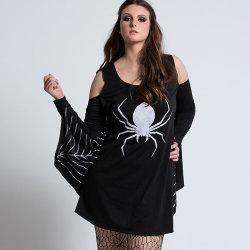 2020 nieuwe stijl Groothandel Sexy Vrouwen Zwart Volwassen kostuum jurk Halloween Plus Size-kostuum