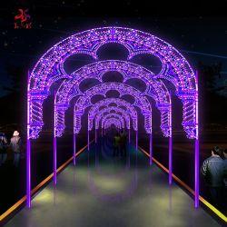 LEDの公園の通りの庭の装飾のための屋外の防水3Dアーチのドアのモチーフライト