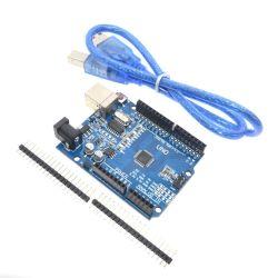 고품질 하나 고정되는 Uno R3 (Arduino Uno를 위한 CH340G) Mega328p R3 + USB 케이블 Atmega328p Au 발달 널