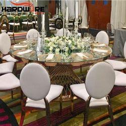 Hotel di cerimonia nuziale di Furnitur dell'acciaio inossidabile grande che pranza le presidenze