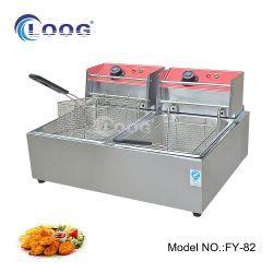 المصنع الأصلي للمعدة السعر المباشر المعتمد من قبل CE خزانات السلة الكهربائية المزدوجة معدات المطبخ العميق المقلاة