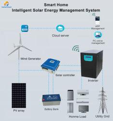 5 квт 10квт солнечной и ветровой турбины генератора гибридная система для использования в домашних условиях с гибридной контроллер 3000W