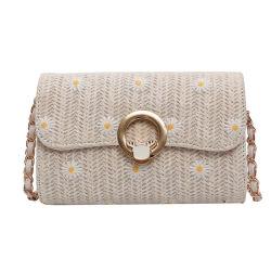 Sacchetto largo di Crossbody del sacchetto di spalla della spiaggia della cinghia del sacco di carta della paglia da 2020 estati per le donne