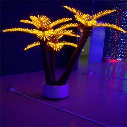 1.8m 인공적인 플랜트 크리스마스 장식 나무 빛을 점화하는 야자열매 트렁크 LED