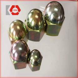 Les écrous hexagonaux avec du jaune à tête ronde DIN1587