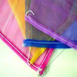 Saco de malha plástica personalizada para embalagem de batata alho cebola / sacos de rede em malha