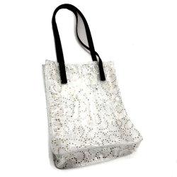 Glitter mayoristas PVC transparente de la bolsa de embrague de la Mujer hermosa Tote Handbag