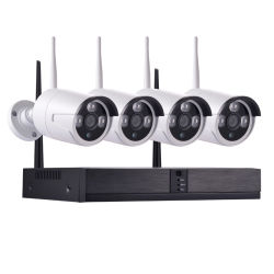 APPの移動式リモート4CH NVR WiFi IPネットワークスマートなホームセキュリティーのシステムカメラキット