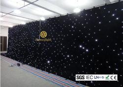 La estrella de LED blanco de tela para la etapa de la boda Evnets telón de fondo muestran