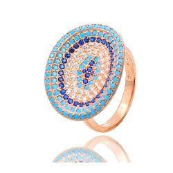 Оптовая торговля 925 серебристые турецкой Micro проложить большие просторы зла глаз кольцо