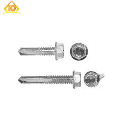 Alta precisión de OEM de obleas de perforación de la cabeza el tornillo hex.