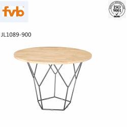 Mode Geometric Metal Bone Wood Top Coffee Table