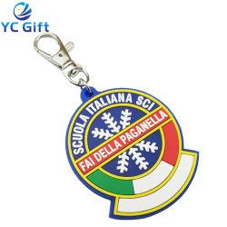 Personalizado de la fábrica de goma PVC blando Logo 2D coloridos titular de la clave de la Navidad Mayorista de regalo personalizado el copo de nieve Llaveros Llavero artículos promocionales de la empresa