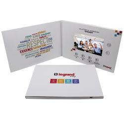 Vídeo personalizáveis Cartão Brochura de 5 polegada 7 polegada