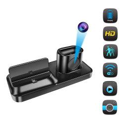 Masquer WiFi caméra avec station de chargeur socle Dock pour Smartphone caméra de sécurité construit en HD1080p 16g Live Video Motion Detection (WC001BS)