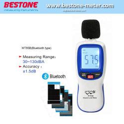 جهاز الكشف عن صوت الضجيج الرقمي بالقياس إلى مستوى الصوت المصغر أداة التشخيص الرقمي 30~130 ديسيبل مع Bluetooth Wt85b