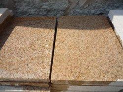 Het opgepoetste Gele Graniet van de Roest voor Stap/Countertop/Keuken/de Bovenkant van de Ijdelheid