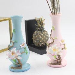 Ornamento de resina tanto de vida Peach Blossom vaso para Home Deco