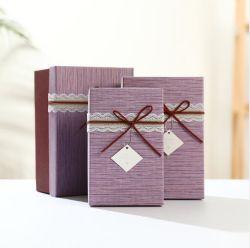 Customed Luxuxschokoladen-Papier-Geschenk-Kasten-Luxuxweihnachtsfestival-Geschenk-Papierbeutel/Luxuxsamt-Perlen-Halsketten-Verpackungs-Kasten