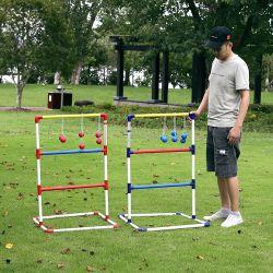 屋外PVC梯子のゴルフトスのゲームセット