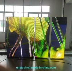 Bekanntmachender Bildschirm-Bildschirmanzeige-Innenfußboden, der gerade hochwertig, hochauflösend stehen, Einfach-zu-Steuerung und attraktives flexibles P2.5 Digital LED Plakat