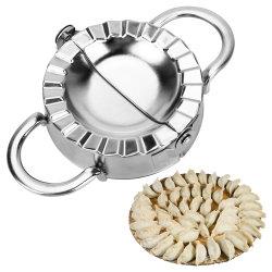 ゆで団子のツールのJiaoziメーカー型の環境に優しいペストリーのステンレス鋼の台所はこね粉のカッターに用具を使う