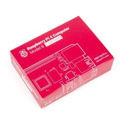 Raspberry Pi 4 2GB de RAM 2GB modelo con caja de servida, suficiente stock