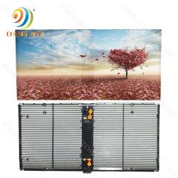 P3.91 DEL transparente de la publicité des écrans à affichage LED mur de fond