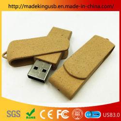 Разлагаемые экологических флэш-накопителя USB/разложимых Roataing бумаги USB-диск пера
