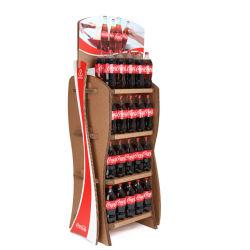 Безопасности и двойные стенки экспорт-картона из гофрированного картона безалкогольные напитки напольная стойка картон дисплей