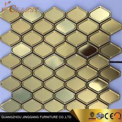 Metallisches Mosaik-Fliese-Hexagon-Gold/Rosen-Gold/silberne Edelstahl Backsplash Metallmosaik-Fliesen