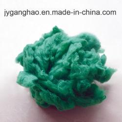 Recyclés de fibres discontinues de polyester de couleur