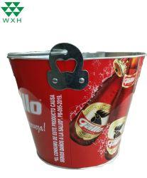 4L el logotipo del fabricante de estaño metal balde de hielo, para el vino o cerveza Canning