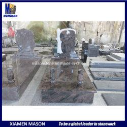 유럽 빨간 화강암에 의하여 새겨지는 나무 기념물 묘비