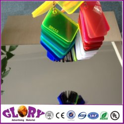 PMMA plástico acrílico de oro y plata de hoja de espejo para la decoración y cuarto de baño