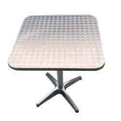 En el exterior de aluminio comercial cepillo de la mesa de acero inoxidable Muebles de bar al aire libre