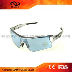 Het beste het Cirkelen van het Tussenvoegsel van het Frame van de Bijziendheid van de Glazen van de Zon van de Sport van de Lens van het Frame van Ce Zilveren Blauwe Vierkante Drijven Eyewear