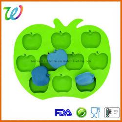 Manzana de silicona personalizadas de calidad alimentaria de la bandeja de cubitos de hielo