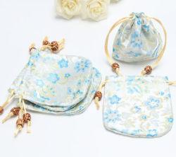 Un style chinois jacquard satin Bijoux sac pochette