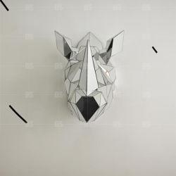Décoration de mur de la résine à la main de l'artisanat Tête de cheval blanc la sculpture et la Sculpture