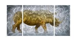 Paroi métallique Arts pour la peinture de rhinocéros